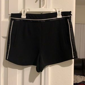 Black Tuxedo Shorts with White detailing